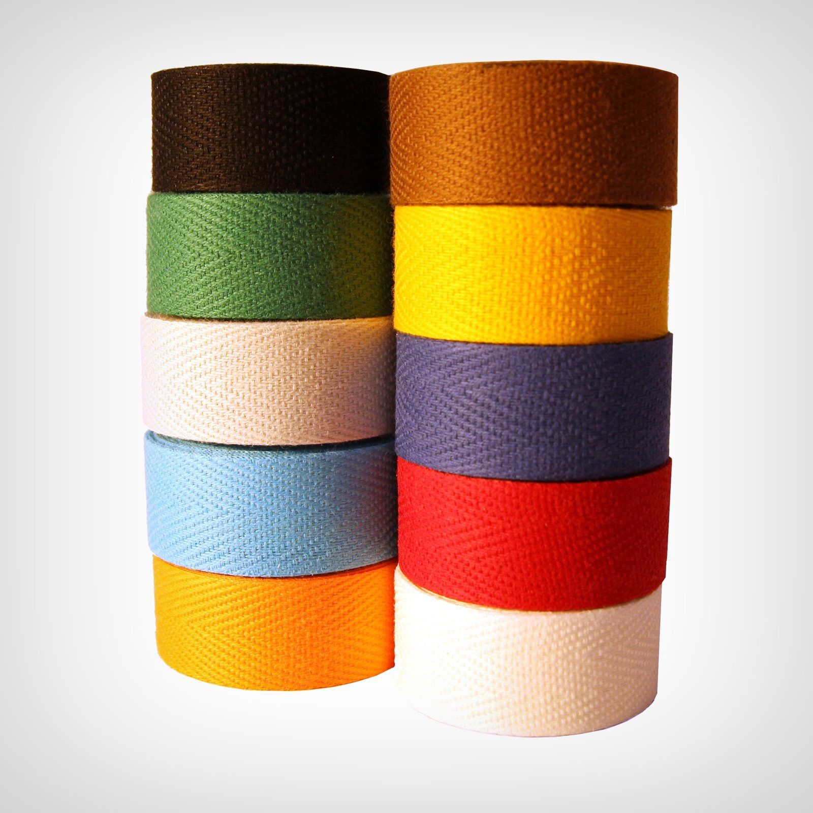 Tressostar Cotton Cloth Handlebar Tape Orange Two